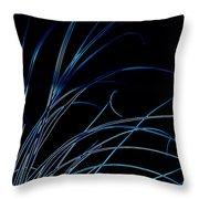 Beach Grass Abstract Throw Pillow