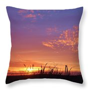 Beach Grass At Gearhart Throw Pillow