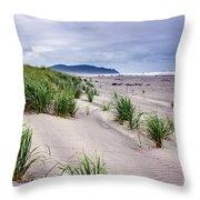 Beach Grass Throw Pillow by Robert Bales