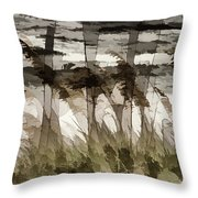Beach Grasses Throw Pillow