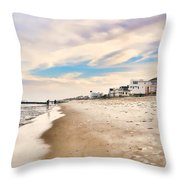 Beach Haven Throw Pillow