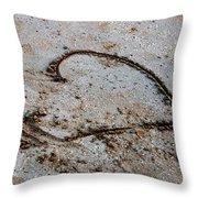 Beach Heart Throw Pillow by John Rizzuto