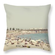 Beach Holiday Throw Pillow