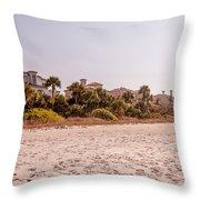 Beach Homes Throw Pillow