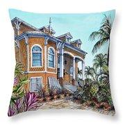 Magnolia Beach House Throw Pillow