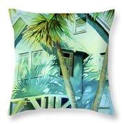 Beach Cottage Throw Pillow