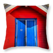 Beach Hut 12 Throw Pillow