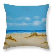 Beach I Throw Pillow