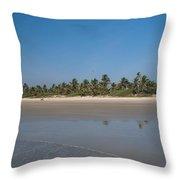 Beach In Goa Throw Pillow