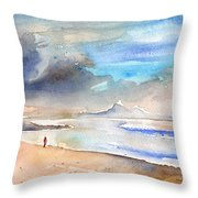 Beach In Lanzarote Throw Pillow