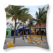 Beach Life Throw Pillow by Michael Madlem