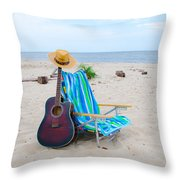 Beach Music Throw Pillow