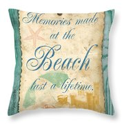 Beach Notes-a Throw Pillow by Jean Plout