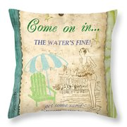 Beach Notes-b Throw Pillow by Jean Plout