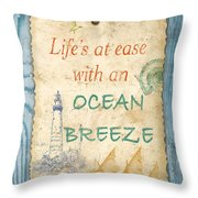 Beach Notes-c Throw Pillow