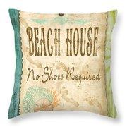 Beach Notes-d Throw Pillow