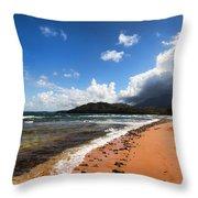 Beach Of Color Throw Pillow