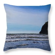 Beach On The Oregon Coast Throw Pillow