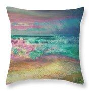 Beach  Overcast Throw Pillow