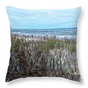 Beach Painting 2 Throw Pillow