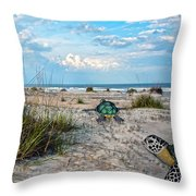 Beach Pals Throw Pillow by Betsy Knapp