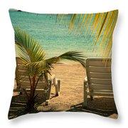 Beach Paradize Throw Pillow