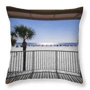 Beach Patio Throw Pillow