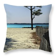 Beach Pine Throw Pillow