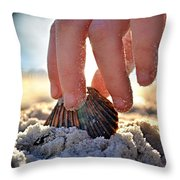 Beach Play Throw Pillow by Laura Fasulo