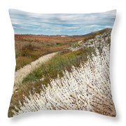 Beach Plums Throw Pillow