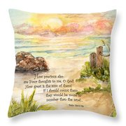 Beach Post Sunrise Psalm 139 Throw Pillow