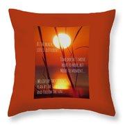 Beach Quote Throw Pillow