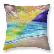 Beach Reflection Throw Pillow