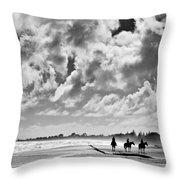 Beach Riders Throw Pillow