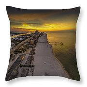 Beach Road Sunrise Throw Pillow