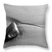 Beach Rock Throw Pillow