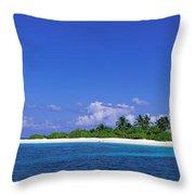 Beach Scene Maldives Throw Pillow