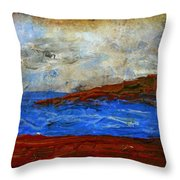 Beach Scene Painting Fine Art Print Throw Pillow