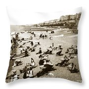 Beach Sean France  Circa 1900 Throw Pillow