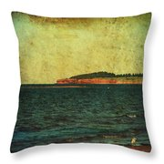 Beach Seascape Ocean Photograph Fine Art Print Throw Pillow by Laura Carter