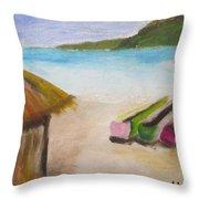 Beach Shack Throw Pillow