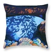 Beach Shadows Throw Pillow