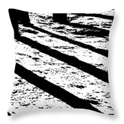 Beach Shadows Throw Pillow