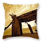 Beach Shed Throw Pillow
