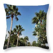 Beach Sidewalk Throw Pillow