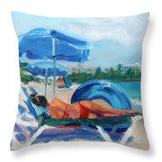 Beach Siesta Throw Pillow