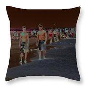 Beach Solar Series Vii Usa Throw Pillow