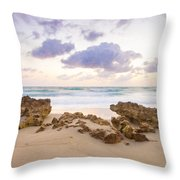 Beach Sunrise At Jupiter Island Florida Throw Pillow