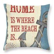 Beach Time 2 Throw Pillow