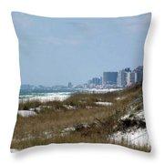 Beach To City Throw Pillow